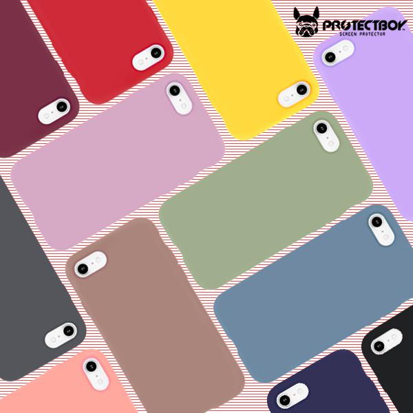 프로텍트보이 아이폰 파스텔컬러 TPU 소프트 젤리케이스 휴대폰 케이스