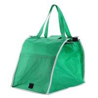 재사용 가능한 마트 쇼핑 토트백 녹색 접이식 손수레 저장용 가방, 상세페이지 참조