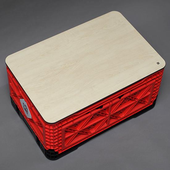 로안디자인 빅앤트 BIG ANT 캠핑 폴딩박스 에코보드 상판, 59리터 상판 (자작나무컬러)