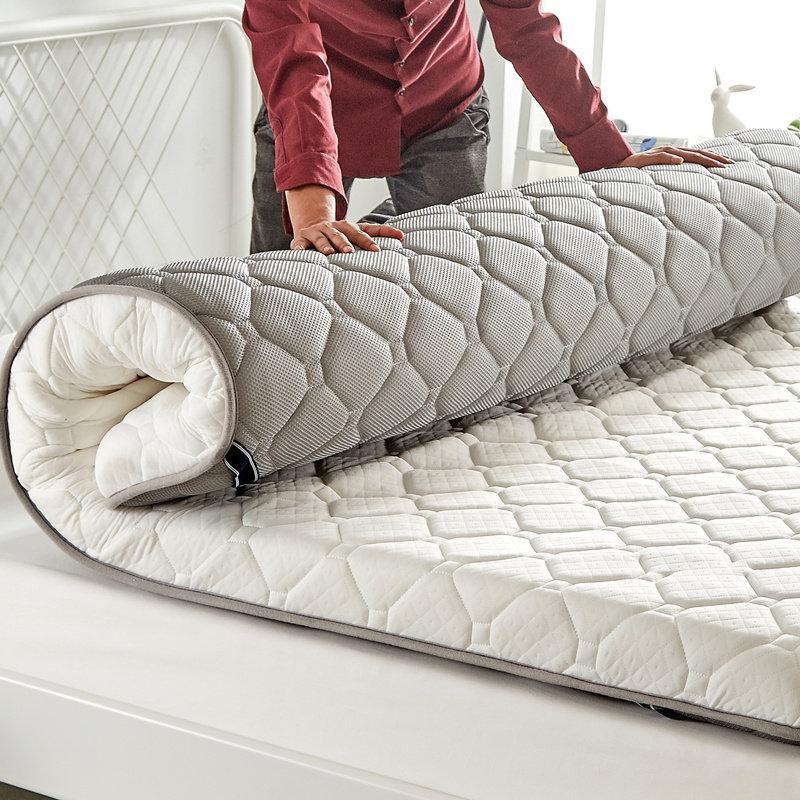 아름다홈 두꺼운 요 매트 매트리스깔개 흙 침대 패드 스프레드, 회색 10CM