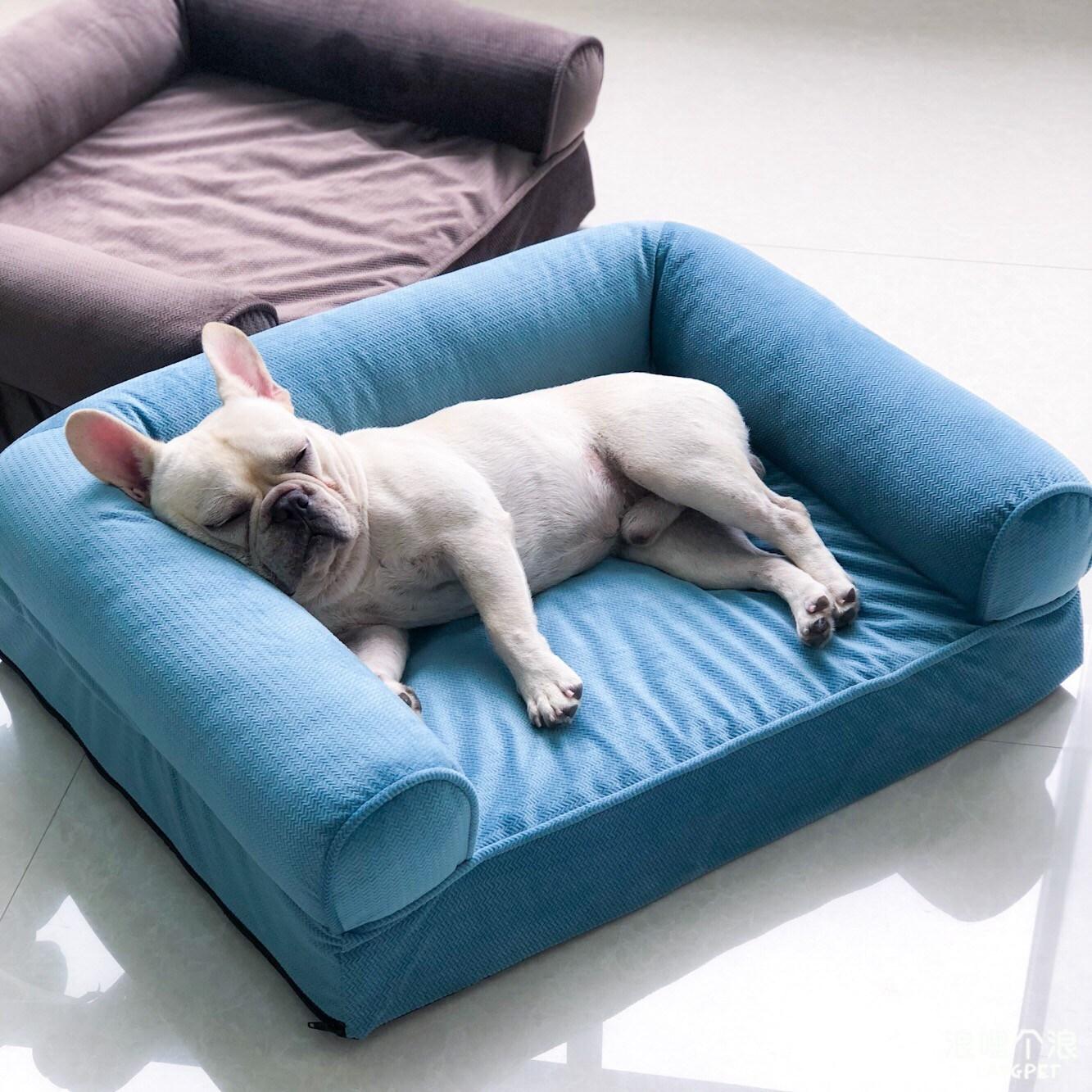 기타 애견방석 구름방석 강아지 침대 소파, 블루