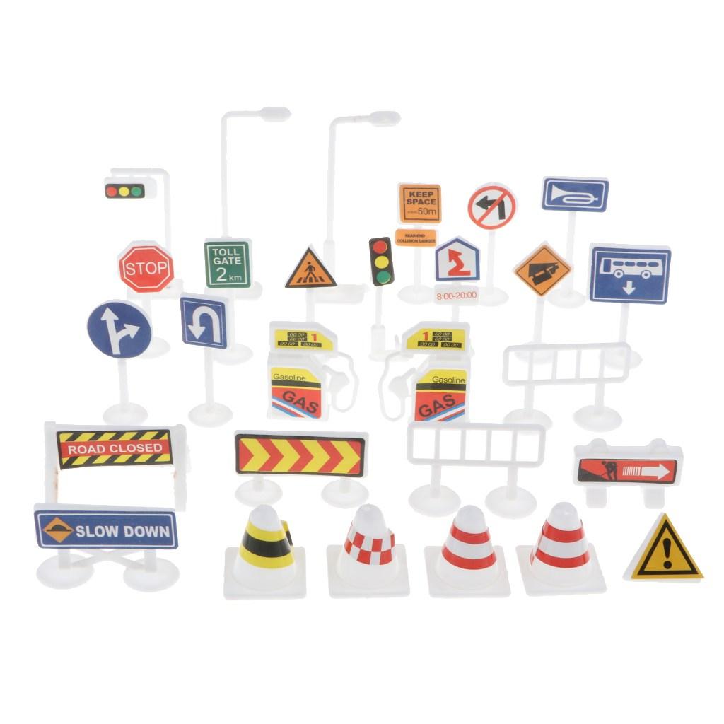 FWT 조기 학습 어린이 어린이 교육 교통 표지판 장난감 세트 선물