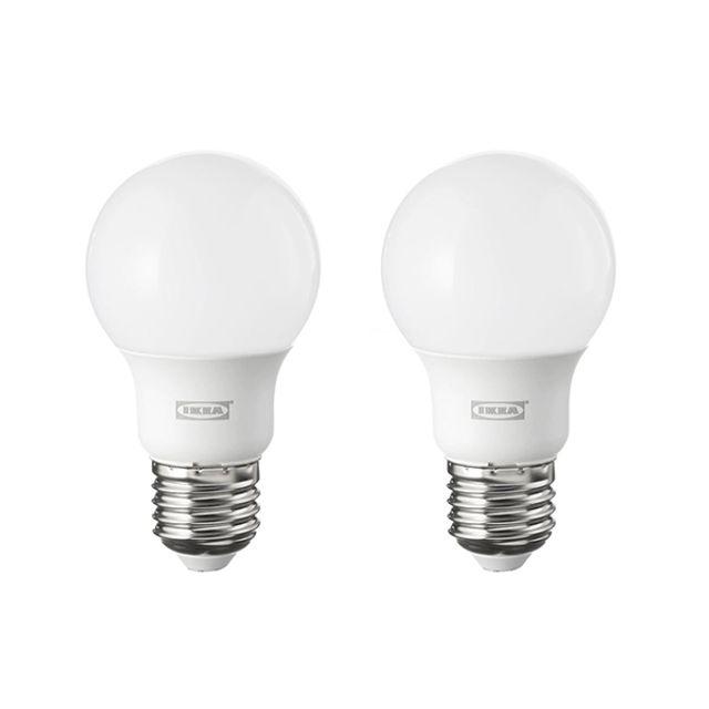 이케아 조명 LED전구 E26 600루멘 구형 오팔 2개세트, 1, 본상품선택