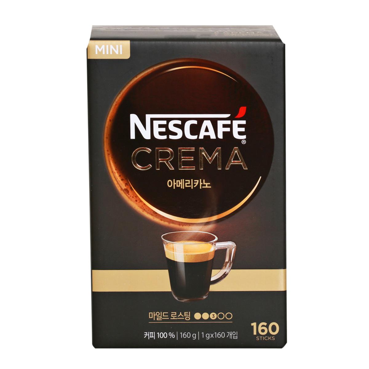 네스카페 크레마 아메리카노 폴리페놀 1gx160입 커피, 1g, 160스틱