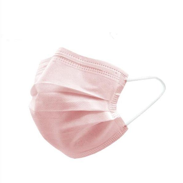 마스크 일회용 3중 구조 핑크색, 1개, 50매입