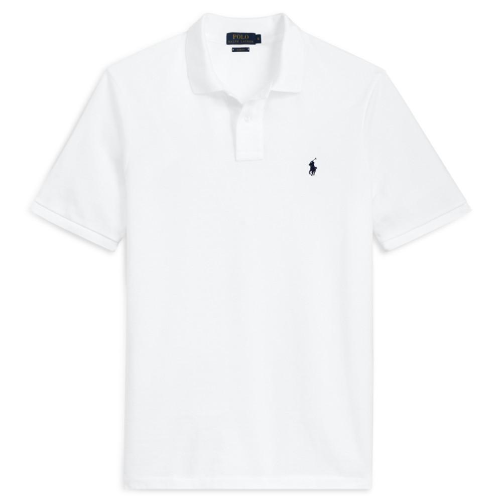 해외직구 슬림 핏 남성 폴로 카라 티셔츠 비즈니스 캐주얼 화이트 반팔티