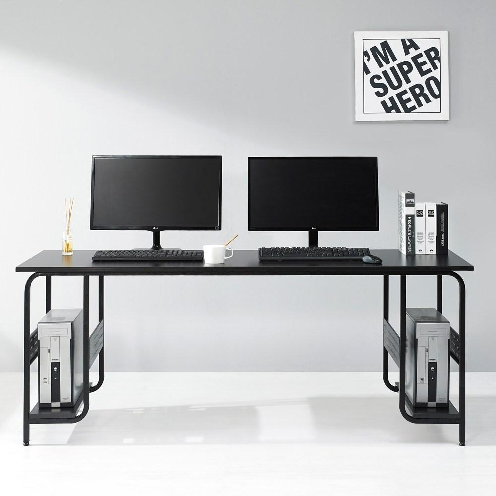 누마 감마 1인용 2인용 컴퓨터 책상, CD1760(2인용)-블랙