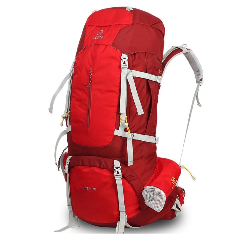 등산 가방 남녀 등 짐 트 레 킹 방수 대 용량 60 리터 더 블 숄 더 백 레 드 70 + 10L, 상세페이지 참조