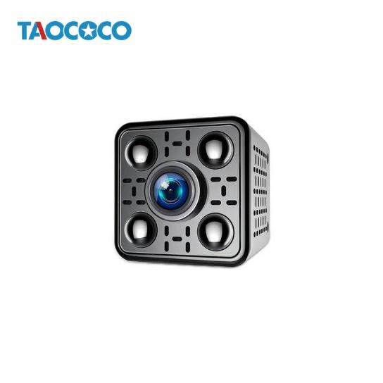 Delkien 휴대용 미니캠코더 사각 소형카메라 hd 1080p 고해상도 와이파이 IP카메라 모션감지 야간촬영, 단일 옵션
