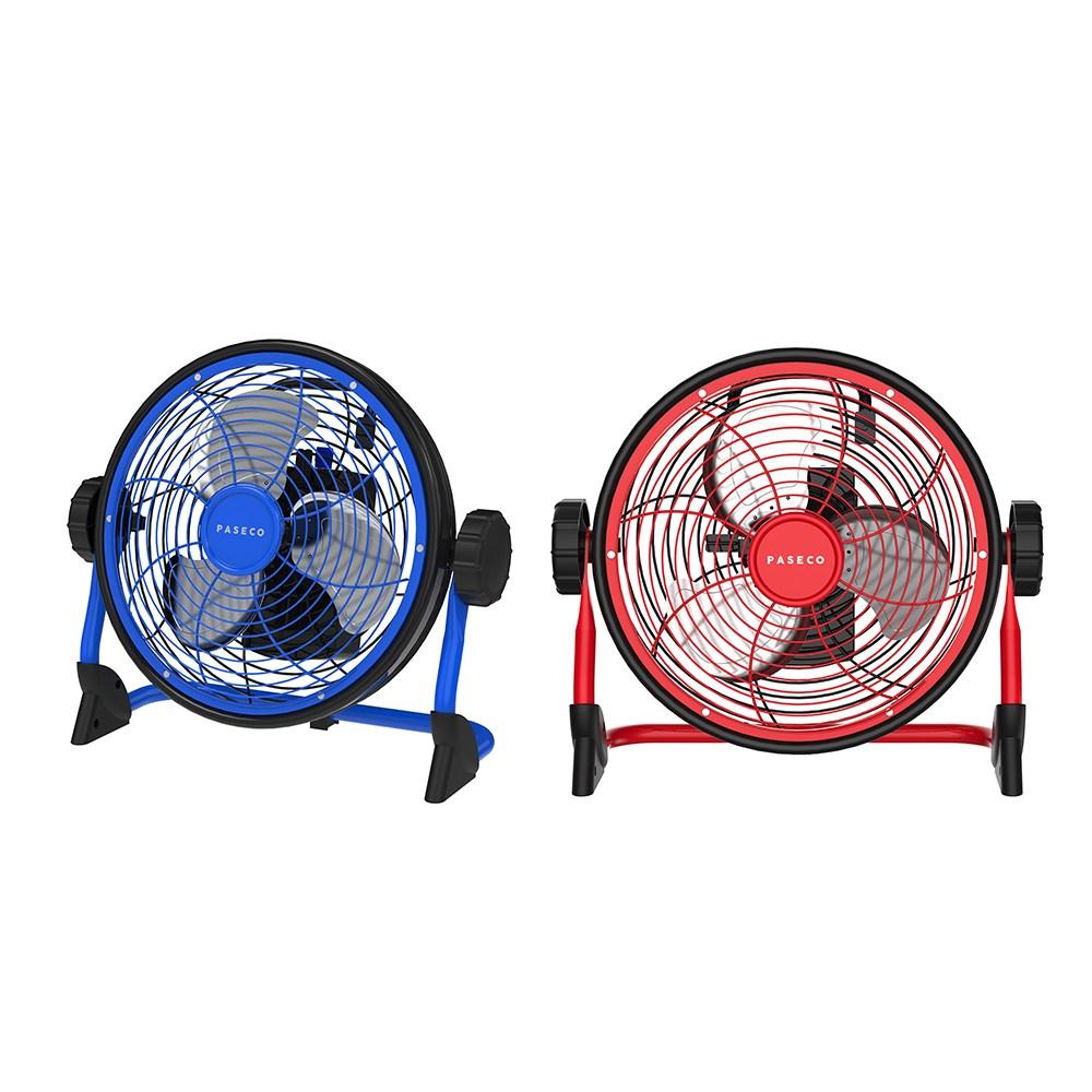 파세코 캠핑용 무선 선풍기 PMF-AB9100R/B 저소음 서큘레이터 휴대용, 블루
