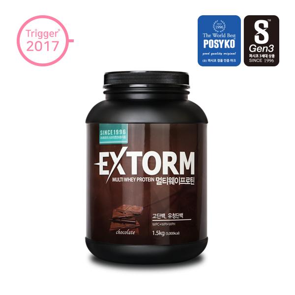 파시코 엑스톰 멀티웨이프로틴 1.5 kg [초코맛] 헬스 보충제, 1개, 1.5kg