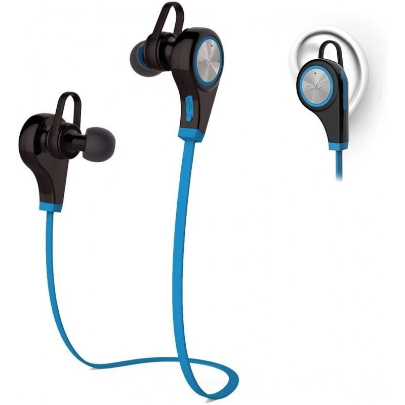 Aibileec Q9 스포츠 헤드폰 무선 블루투스 헤드셋(파란색):, 단일옵션, 단일옵션