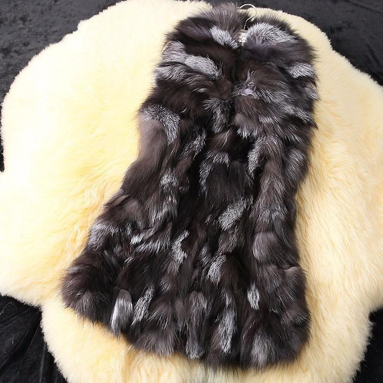 (사이즈제작가능)(회색 레드 베이지)청담동 천연여우털 모피조끼 빅카라 퍼베스트 폭스퍼100% 진도모피 스타일 여성큰옷 작은옷 맞춤 여성의류도매