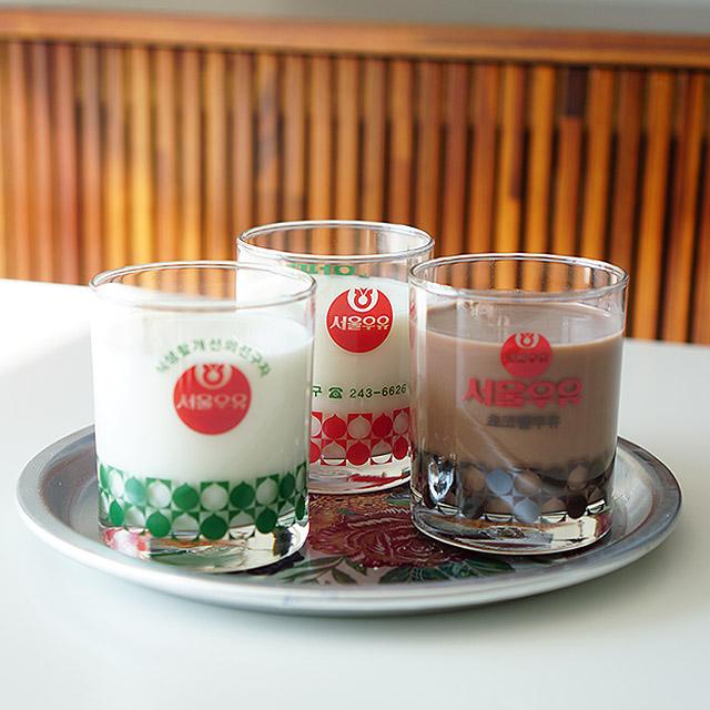 [본사정품] 서울우유 레트로 빈티지컵 3종세트 (흰+초코+딸기), 단품
