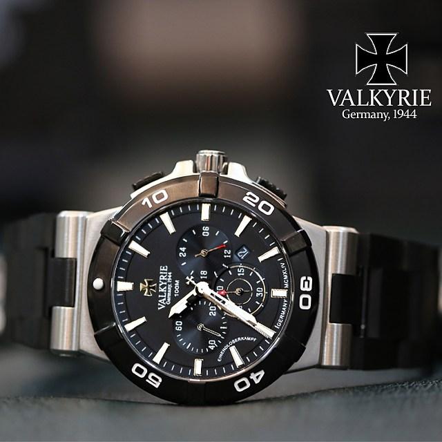 발키리 [신상] 엔드로저 캄프 남자시계 V-7050BK 블랙라벨