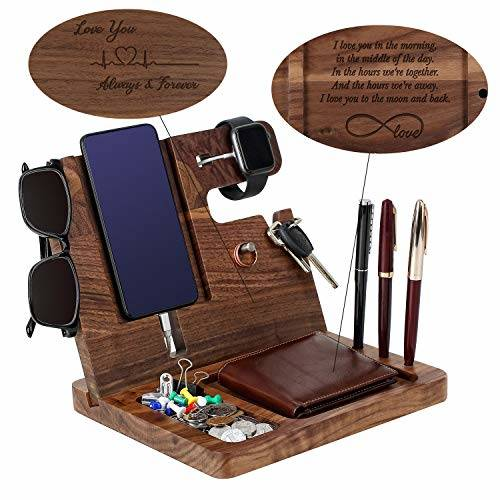Wooden Phone Docking Station for Men - Engraved Nightstand Or/1500522, 상세내용참조, 상세내용참조, 상세내용참조