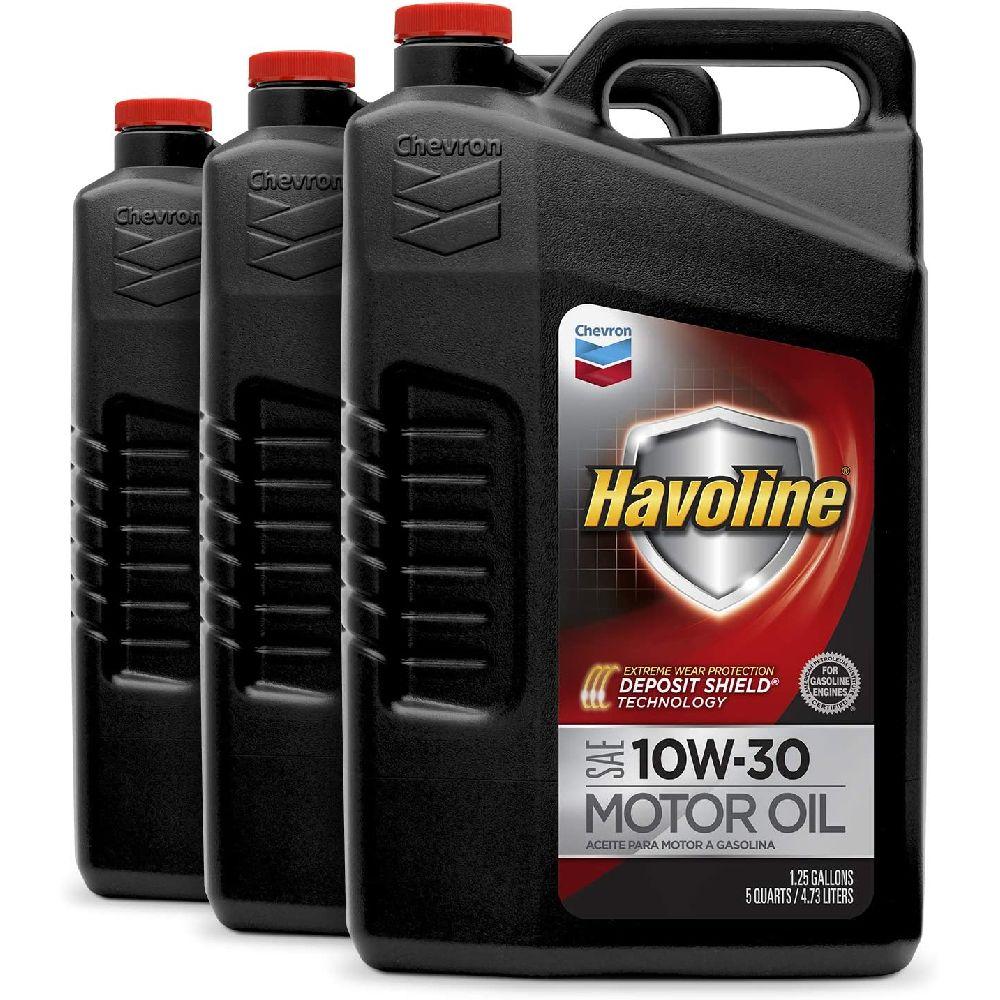 HAVOLINE Havoline 223 395 485 3PK 10W-30 엔진 오일 - 5 QT. (3 팩), none