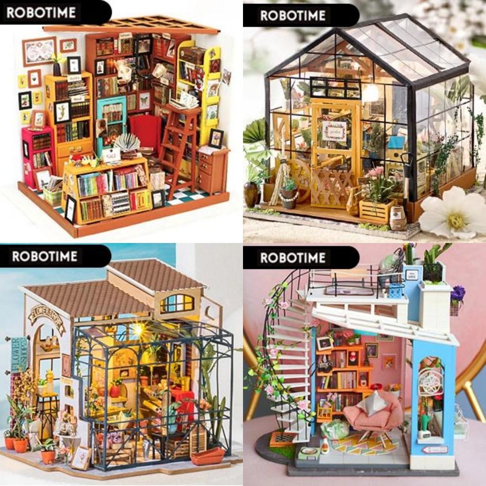 DIY 미니어처 홈가드닝 하우스 만들기 집순이 집콕 취미 인테리어 소품, 서점