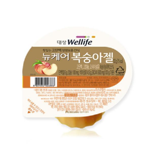 [뉴케어] 영양간식 복숭아젤 100g, 10개