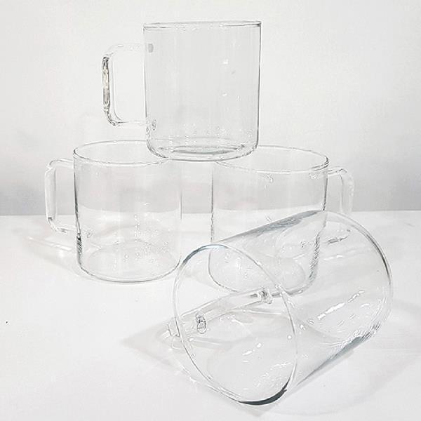 ZAK472953[판매자추천]시맥스 프롬 머그 4P 300ML 머그유리컵 투명머그컵 내열유리컵 강화유리잔 물컵 머그잔
