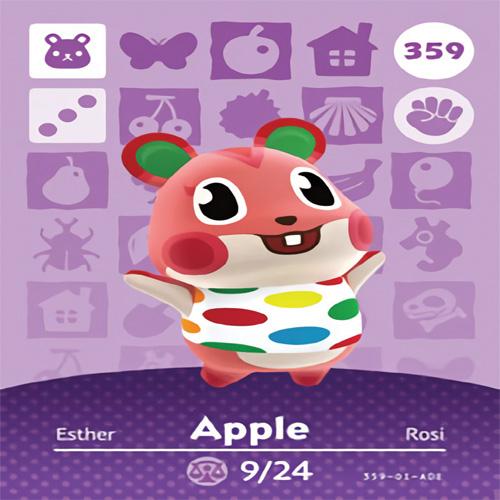 동물의숲 아미보카드 제작호환제품, 1개, 359 애플