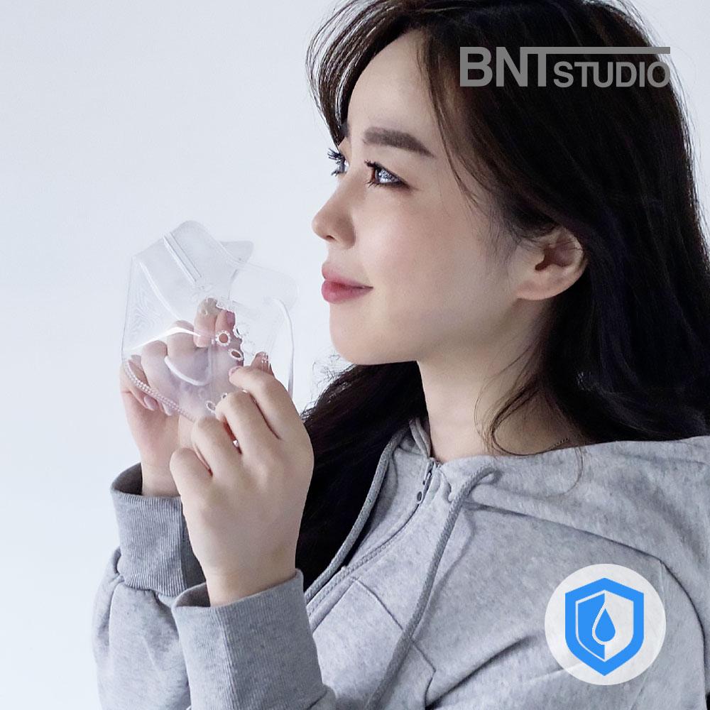 [비엔티스튜디오] 연예인 3D 방수 립뷰 클리어 투명 마스크