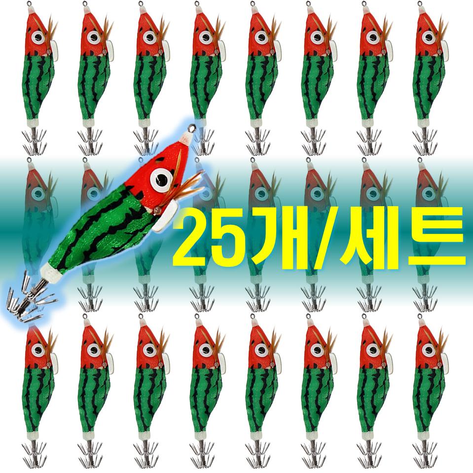 예피싱 25개입 왕눈이 에기 세트 쭈꾸미 갑오징어 문어채비 야광애기, YF14
