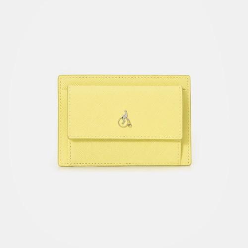 [빈폴ACC]미니 빈 앞포켓 카드지갑Yellow(BE01A4M32E)