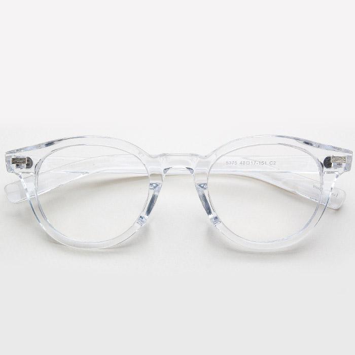 GICL 레귤러핏 투명안경테 호박색 뿔테안경