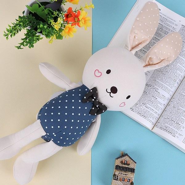 유기농 애착인형 토끼 스몰S 장난감 아기 백일 신생아 돌 선물, 블루