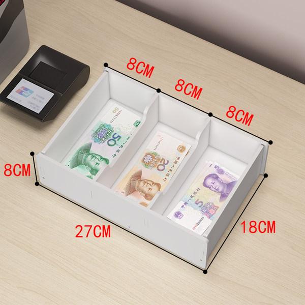 캐쉬어 현금 동전 저장 상자 종이 돈 출납원 서랍 돈, 3 그리드