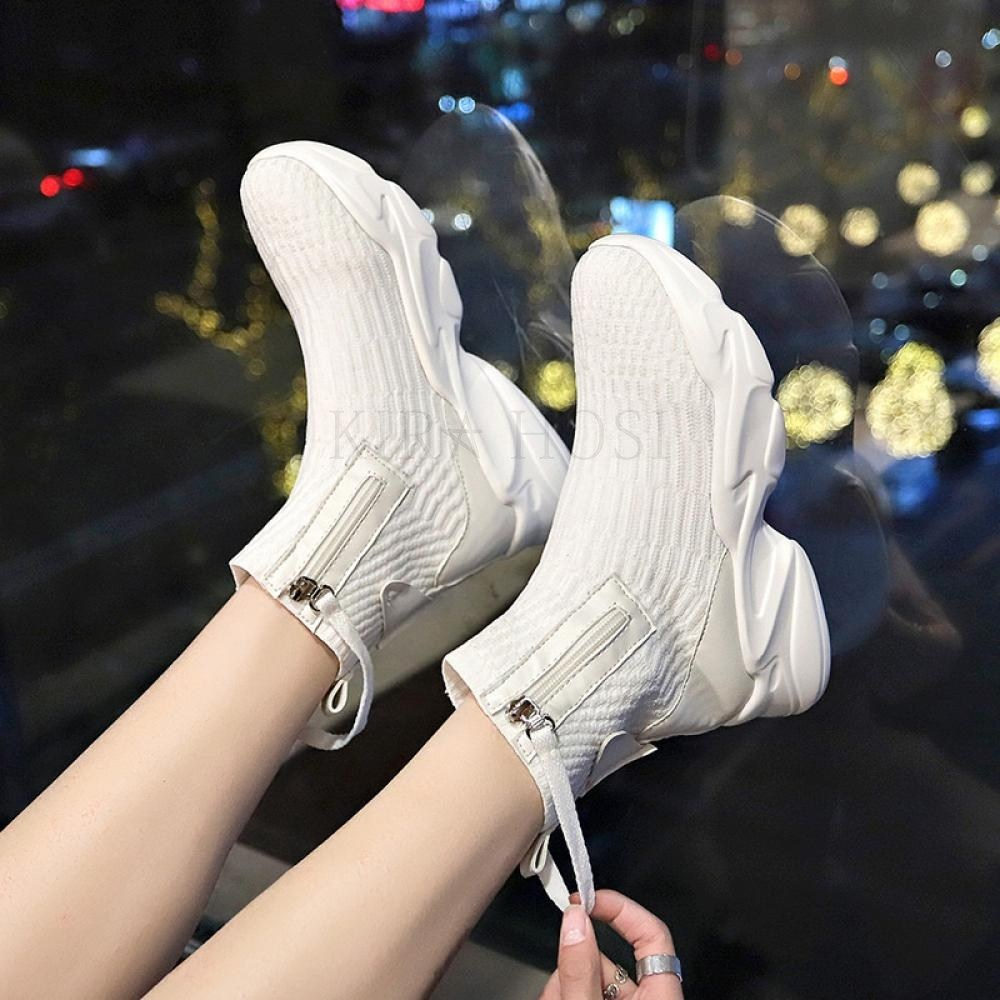 kirahosi 하이탑 삭스스니커즈 슈즈 발편한 신발 운동화 133호+덧신증정 CHogyafn