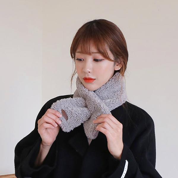 핫팩목도리 여성 목도리 머플러 밍크 페이크 쁘띠 퍼 겨울 방한