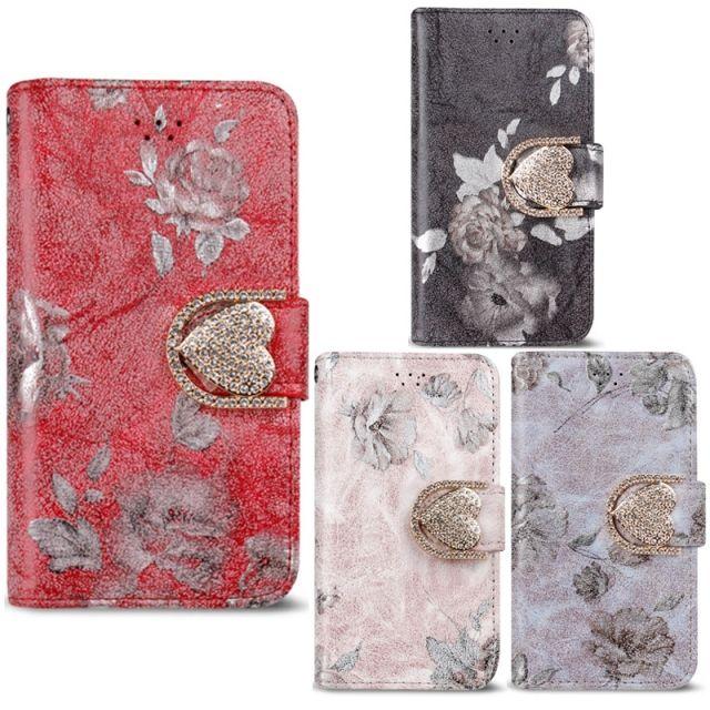 하드 젤리 범퍼 실리콘 케이스/갤럭시S3 샤인 플로랄 러브 다이어리 케이스 E210 핸드폰 휴대폰 카드 케이스