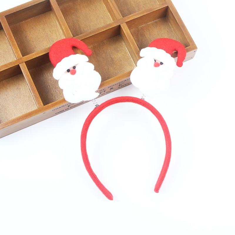 산타 클로스 머리 장식 크리스마스 머리띠 눈사람 사슴 경적 고양이 귀 머리띠 어린이 성인 헤어 액세서리 파티 장식 크리스마스 머리띠 , 1개, 1A