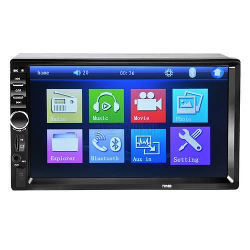 2 DIN 자동차 라디오 자동차 오디오 스테레오 플레이어 자동 블루투스 V2.0, 상세내용참조