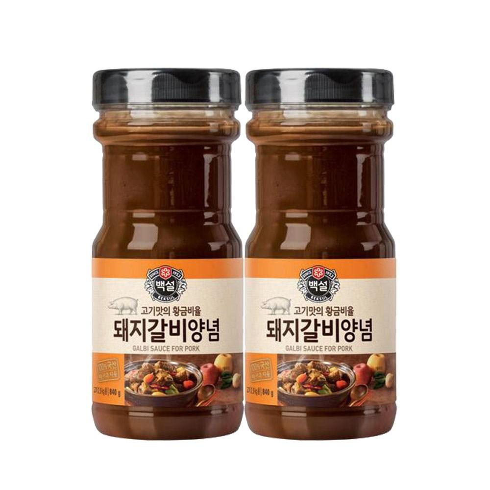 (상온)백설 돼지갈비양념840gx2개, 1세트