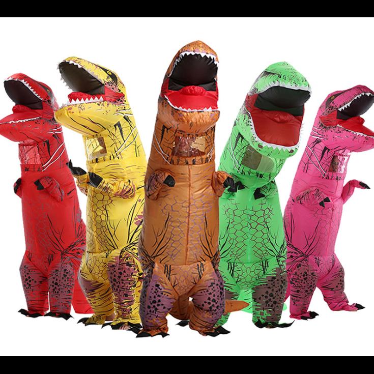 AM ANNA 공룡 엽기 풍선옷 아동 성인 에어슈트 코스튬 할로윈의상 코스프레 USB