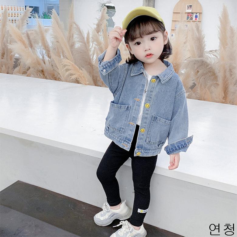 굿데이 컴퍼니 여아 캐주얼 봄 가을 얇은 데님재킷 아동 바람막이 청점퍼 패션 코트 lGNW06
