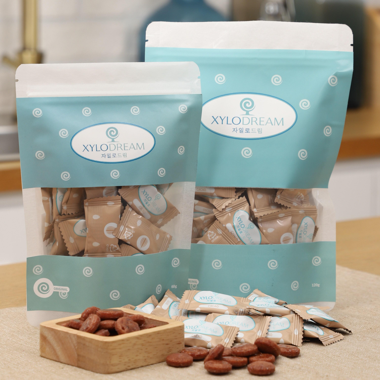 자일로드림 자일리톨 캔디 사탕 무설탕 카카오60g 120g 98%자일리톨2%카카오분말, 60g, 1팩