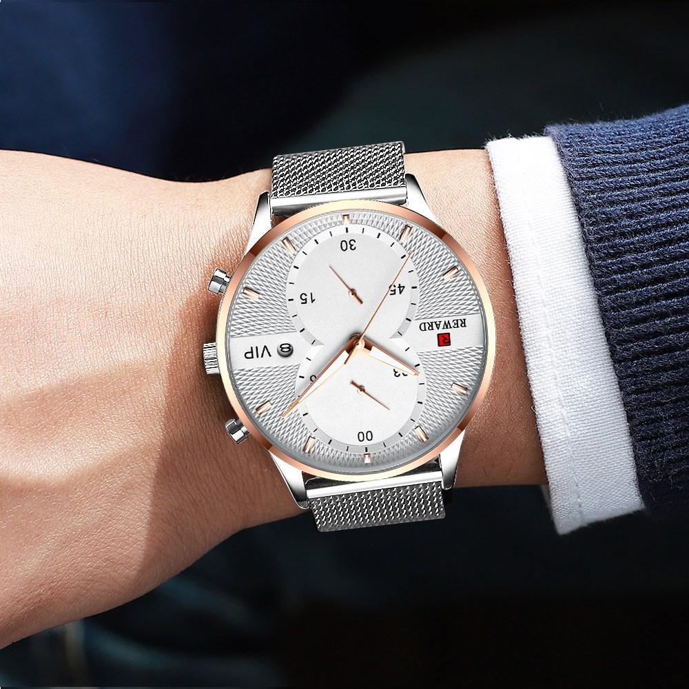 REWARD 남자시계 메쉬 남성 시계 손목시계 남자손목시계 남성손목시계
