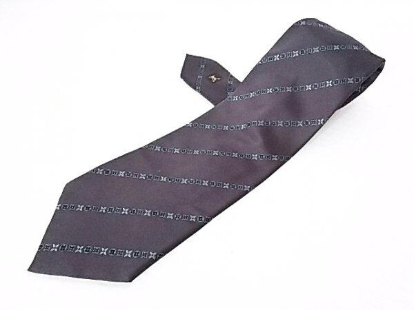 루이 비통 넥타이 맨 블랙 × 다 크 그레이 스 트 라 이 프