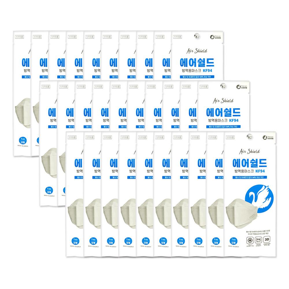 에어쉴드 방역용마스크KF94/흰색/대형 30매