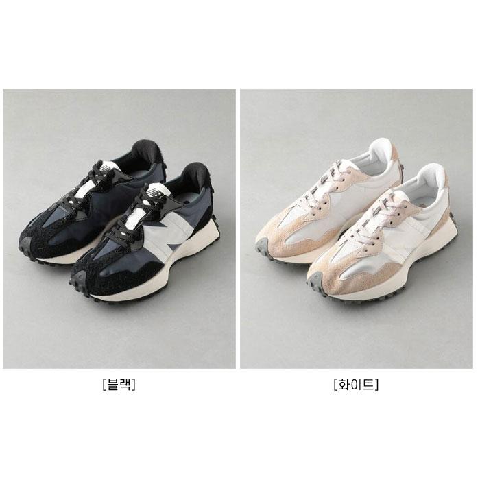 뉴발327 화이트 버치 베이지 에나멜블랙 WS327SFA WS327SFC / New Balance Sneakers WS327