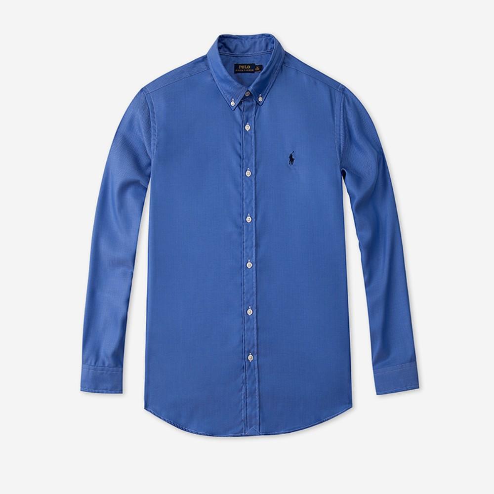 폴로 셔츠 Classic-fit 코튼 셔츠 Urban 캐주얼 로얄 블루 셔츠
