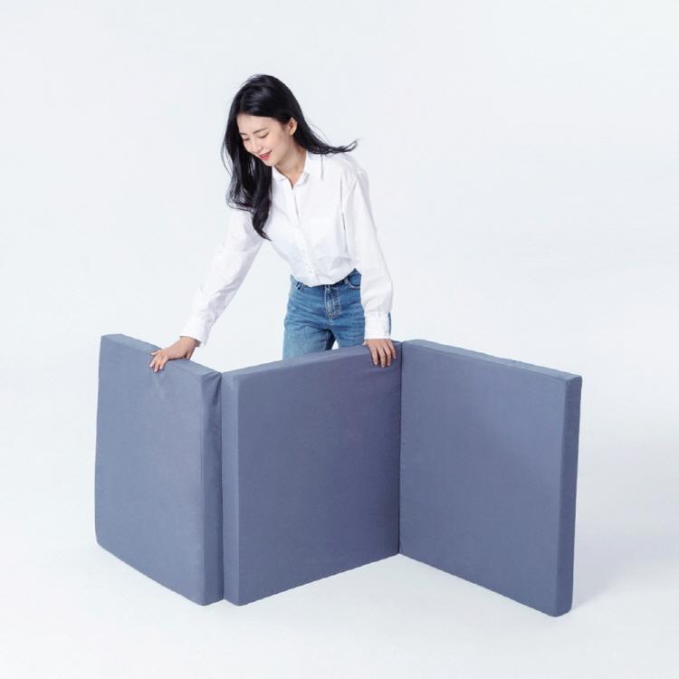 라익미 3단 접이식 플립 매트리스 8cm MS, 8cm HR폼, 멀티싱글(75x200), 트리