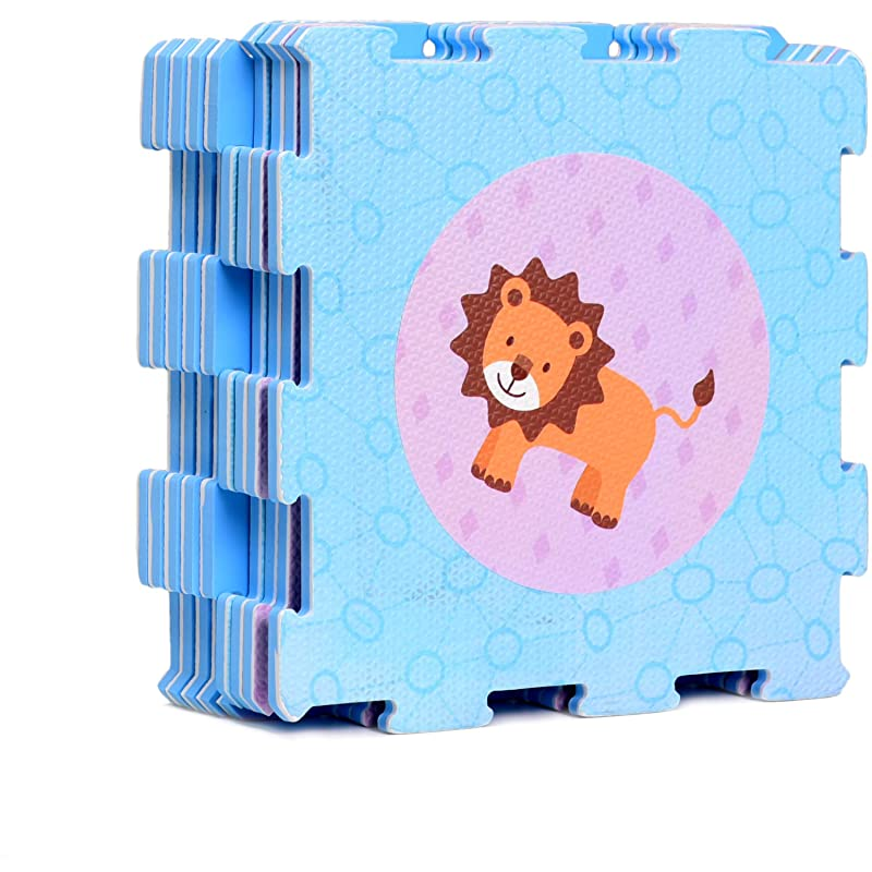 동물 고무 EVA 포암 퍼즐 놀이 매트 플로어 9 연동 플레이매트 타일 12X12인치 9평방피트 커버링 이상적인 아기 크롤링 아기 교실 토들러 키즈 체육관 운동 시간, 상세페이지 참조, 상세페이지 참조