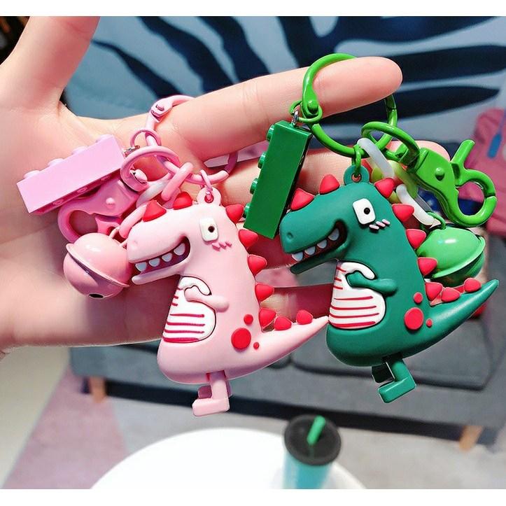 키링 키홀더 부자재 열쇠고리 공룡 가방 캐릭터, 초록