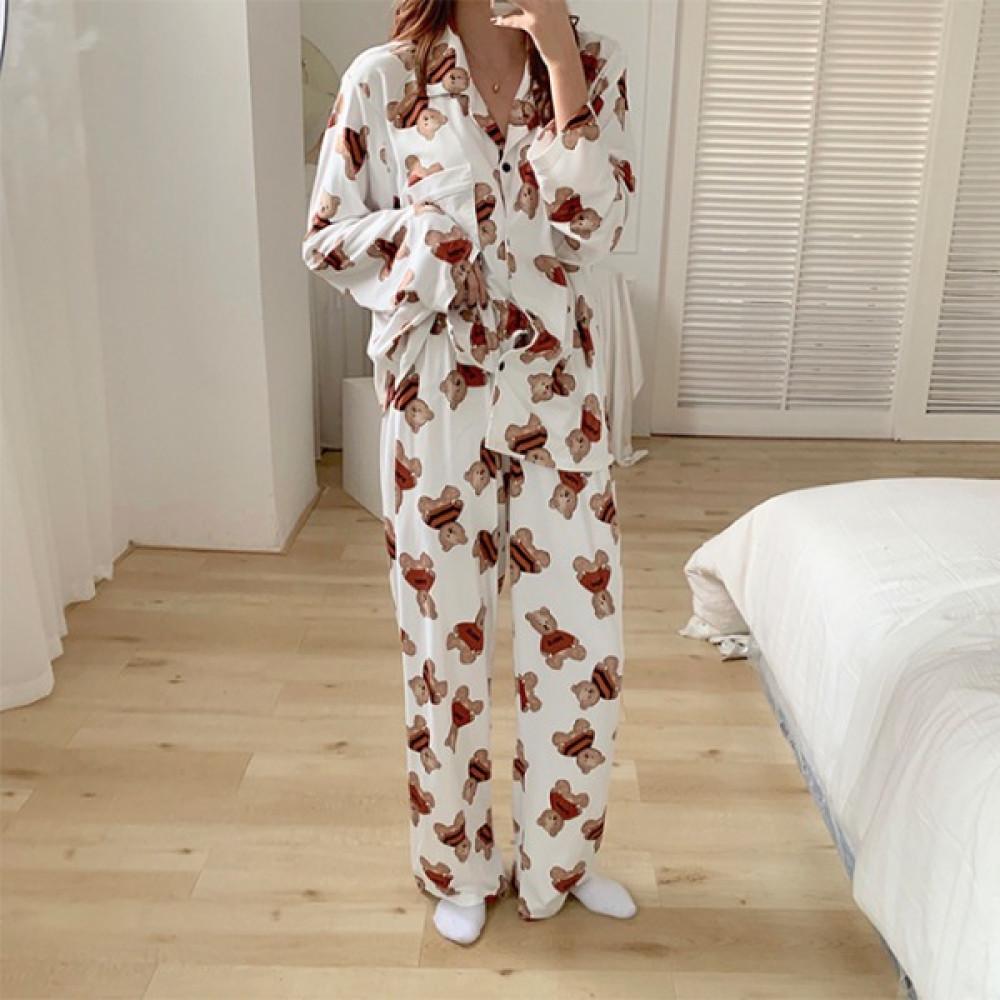 핑크비올라 / 고므 큐트 곰돌이 잠옷 파자마 세트