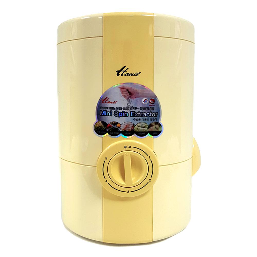 한일전기 다용도 미니 짤순이 W-110 소량빨래 음식물 탈수기